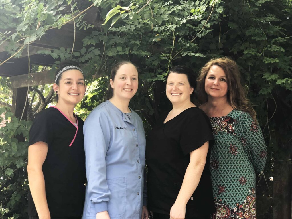Dr. Allen and her staff of dental hygienists and assistants in Hendersonville, NC